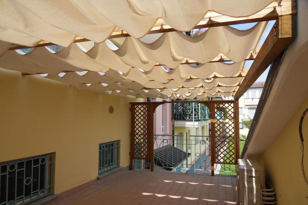 Copertura ombreggiante terrazzo